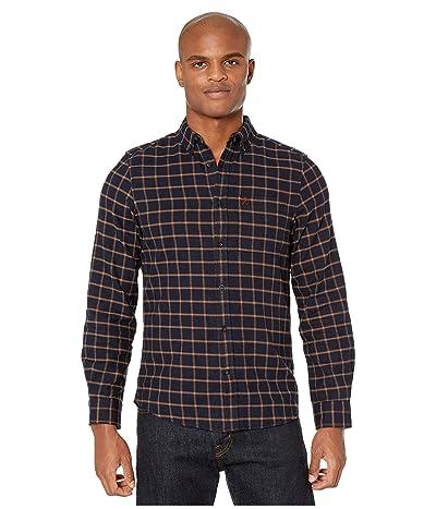 Fjallraven Ovik Flannel Shirt (Dark Navy) Men
