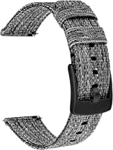 TRUMiRR 18mm Quick Release Woven Nylon Watch Band Stainless Steel Clasp Strap Sports Bracelet Wristband for Huawei Watch 1st/Fit Honor S1, Fossil Women's Gen 4 Venture HR, Withings Steel HR 36mm