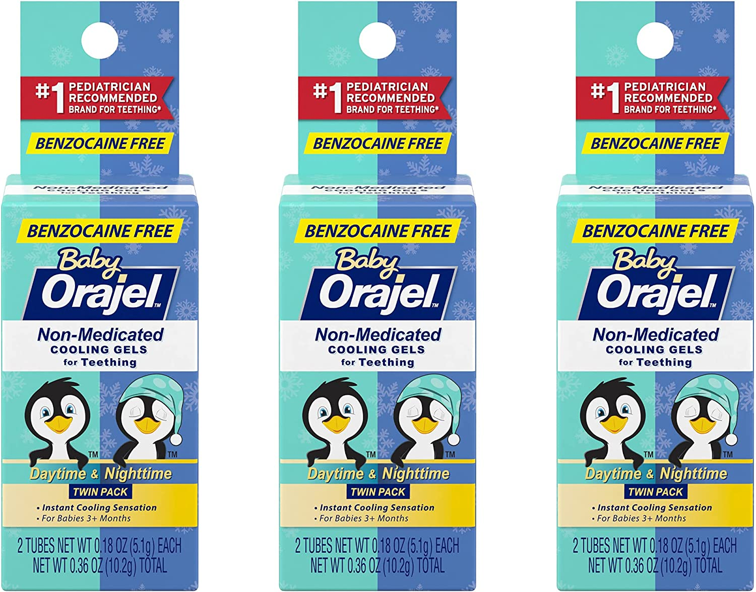 Orajel Trust Baby Non-Medicated Cooling Gel Memphis Mall Night 0.18 Day Ounce 3