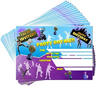 15 Video Game Birthday Party Invitations with Envelopes | Kids Birthday Invitations | Video Game Party Supplies | Birthday Invitations for Boys | Gamer Party Supplies | Birthday Party Invitations