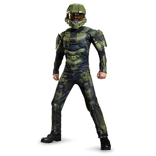 Halo Blue Spartan Military Soldier Dress Up Halloween Adult Costume Helmet Mask