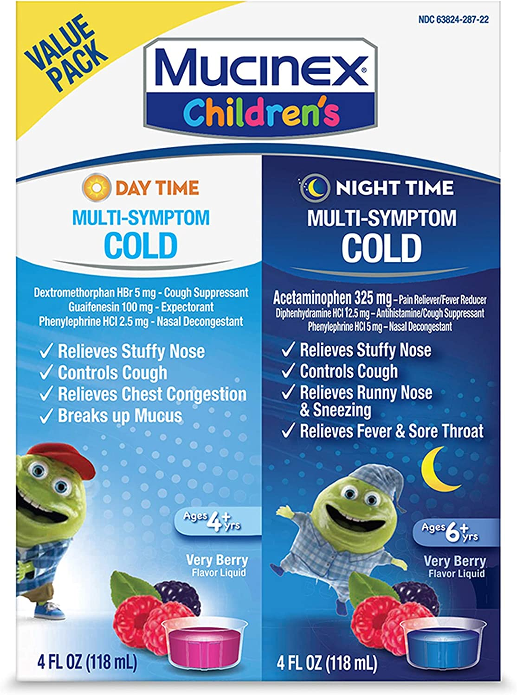 Cold Max 48% OFF Cough Mucinex Children's Night Classic Liquid Day Multi-Symptom
