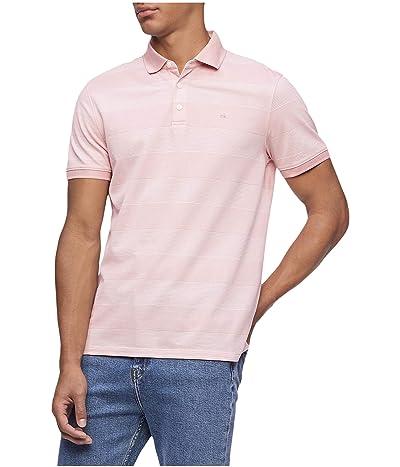 Calvin Klein Short Sleeve Liquid Touch Polo Shirt (Bridal Rose Com) Men