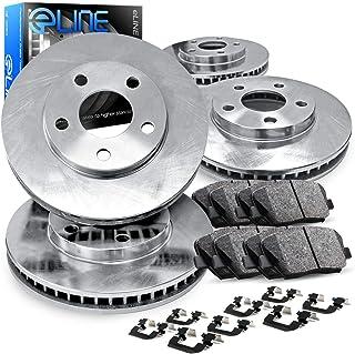For Toyota 4Runner, FJ Cruiser R1 Concepts eLine Front Rear Blank Brake Rotors Kit + Ceramic Brake Pads