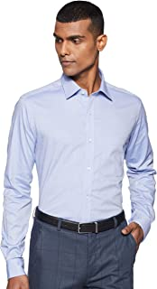 Raymond Medium Blue Slim Fit Cotton Shirt