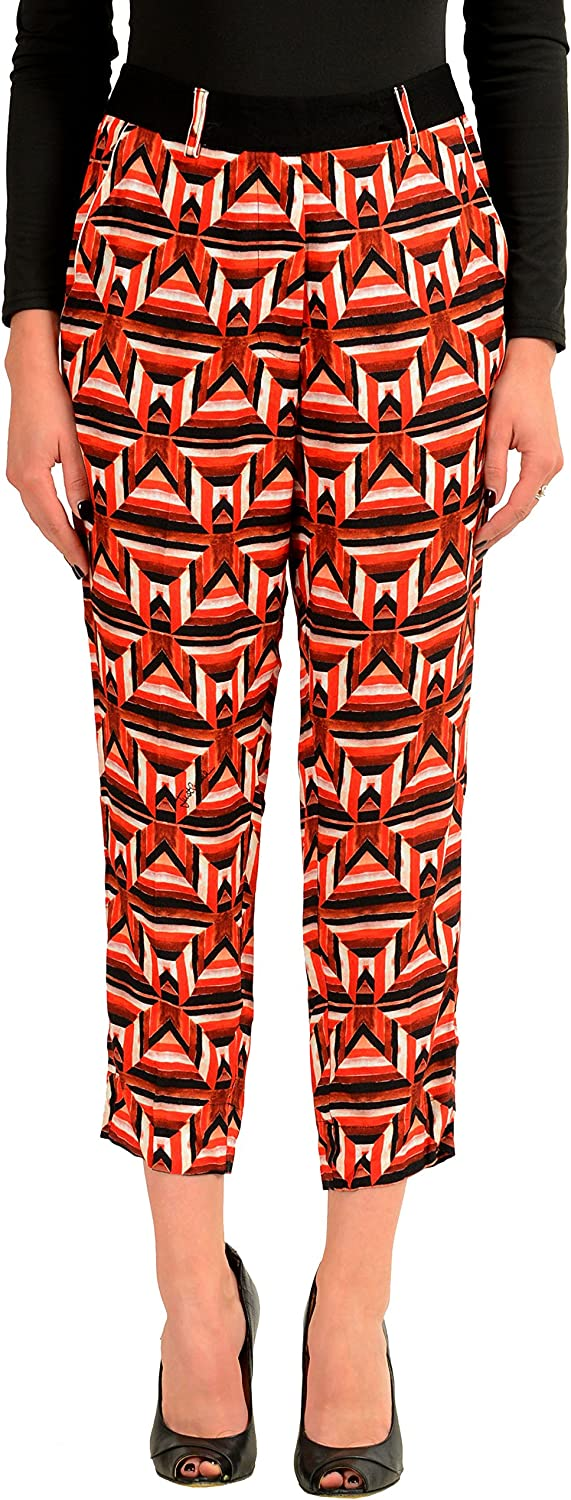 Just Cavalli Women's Graphic Cropped Casual Pants US 4 IT 40