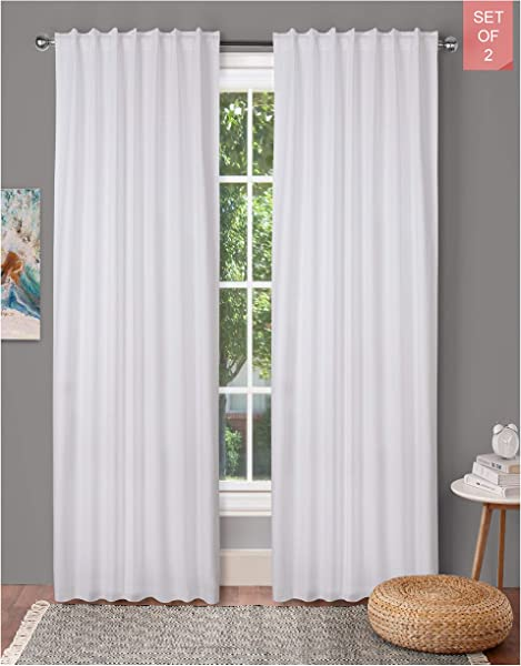 Tab Top Curtains Farm House Curtain Cotton Curtains Curtain 2 Panel Sets Window Curtain Panel In Textured Cotton 50x108 White Reverse Window Panels Curtain Drapes Panels Bedroom Curtains Set Of 2