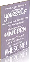 Something Unicorn – Purple Color Wall Hanging Sign for Teen Girls, Girl's Bedroom, Kid's Room, and Nursery Room. Essential Item for Unicorn Wall Decor. Purple/Lavender Color, 12x17 in, PurpleWhite