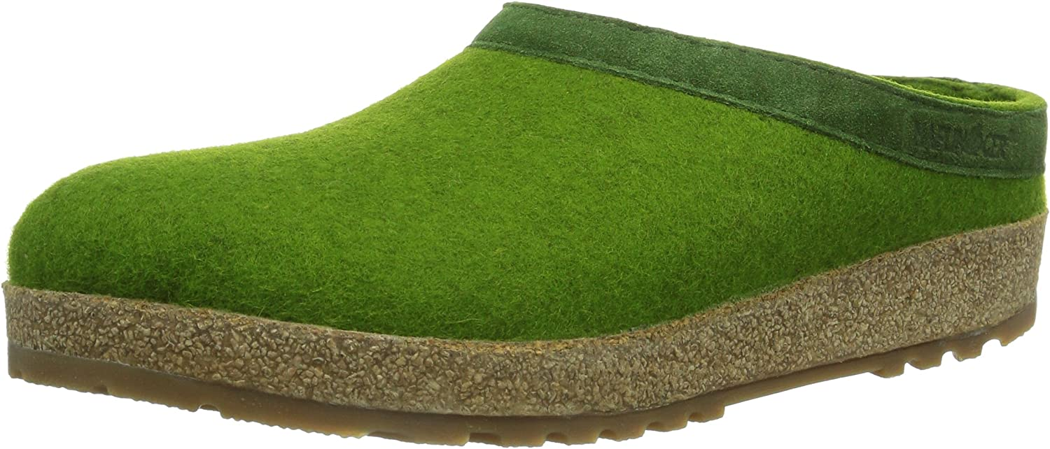 Haflinger Unisex Adults' Grizzly Torben Open Back Slippers