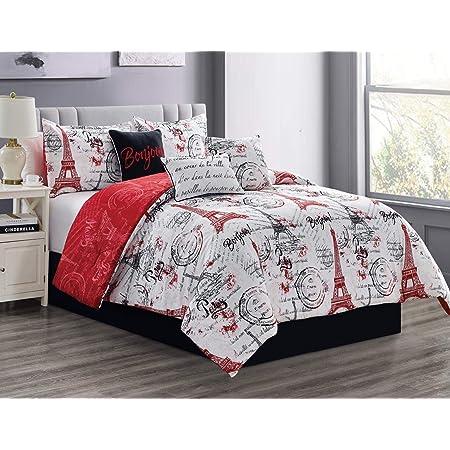 Twin Extra Long Bed Ensemble Paris Gold 6-Pc Reversible Comforter Set
