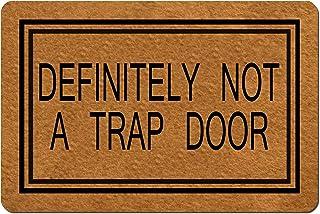 Msimplism.D Doormat Home Decor Funny Doormat Definitely Not A Trap Door Doormat Funny Doormat Monogram Doormat Indoor Outd...