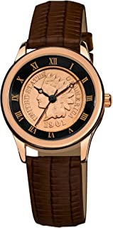 Women's CN005R-AS Round Indian Head Penny Collectors Rose-tone Coin Watch