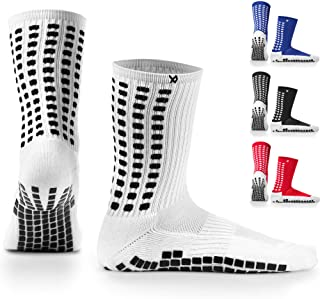 LUX Anti Slip Soccer Socks,Non Slip Football/Basketball/Hockey Sports Grip Pads Socks