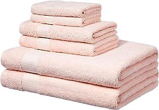 AmazonBasics Toallas de baño, juego de 6 piezas, rosado