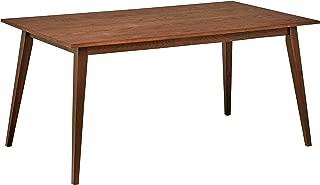 Rivet Mid-Century Modern Oak Dining Table, 63