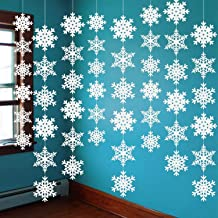CocoHut 8PCS Winter Wonderland Snowflake Hanging Decorations - White Christmas/Xmas/Holiday Birthday Party Supplies Decor Snowflake Hanging Decorations