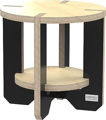 Birke Multiplex H/öhe 26 cm Breite 39 cm Tritthocker Holz Fu/ßhocker Schemel Sitzb/änkchen Handgefertigt