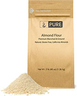 PURE Almond Flour (3 lb. (48 oz.)), Paleo & Keto Friendly, Gluten-Free, Vegan, Product of California, Blanched Almonds