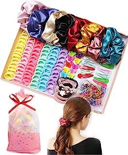 مجموعه توت های ابریشمی توت مخصوص موهای بندهای الاستیک مو برای خانمهای دخترانه مراقبت از موهای نرم زنان 334 عدد لوازم جانبی مو با کیسه هدیه ، هدیه عالی برای فصول تعطیلات