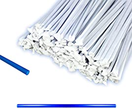 12 inch Blue Plastic Straws Paper Wrapped - Direct to You from Our USA Warehouse - Mymicco 18171