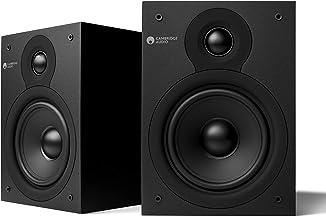 Cambridge Audio SX-50 Bookshelf Speaker | 100 Watt Home Theater Compact Speaker Pair (Matte Black)