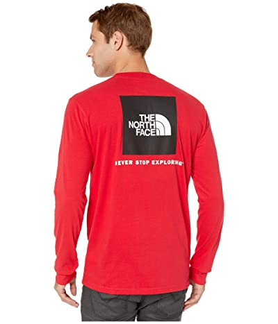 The North Face Long Sleeve Red Box T-Shirt (TNF Red/TNF White) Men
