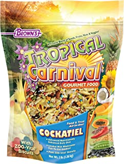 Tropical Carnival F.M. Brown's Gourmet Bird Food for Cockatiels, Lovebirds, and Conures, Vitamin-Nutrient Fortified Daily Diet