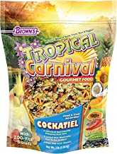 F.M. Brown's Tropical Carnival Gourmet Bird Food for Cockatiels, Lovebirds, and Conures, 3-lb Bag - Vitamin-Nutrient Forti...