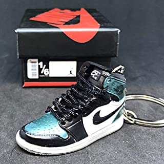 Air Jordan I 1 High Retro All Star Chameleon OG Sneakers Shoes 3D Keychain Figure + Shoe Box