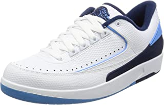 Air Jordan 2 Retro Low Mens Basketball Trainers 832819 Sneakers Shoes (UK 6.5 US 7.5 EU 40.5, White University Blue 107)