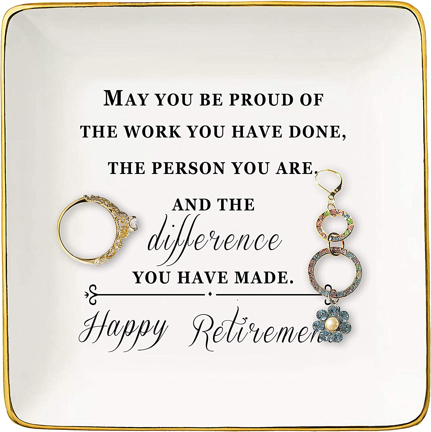 Happy Retirement Selling Gifts for Women Max 63% OFF – Jewelry R Holder Ceramic