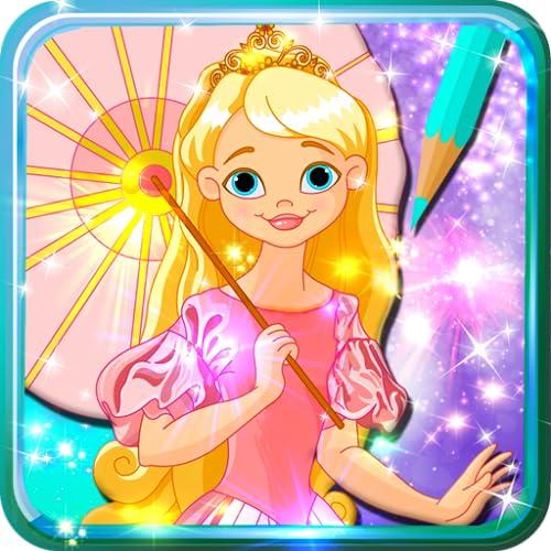 Livro de colorir para as princesas