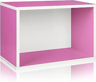 Way Basics 819767010463-P Eco Stackable Shelf and Shoe Rack - Zapatilla de Tiro (Fabricada en cartón zBoard sostenible, no tóxico), Color Azul