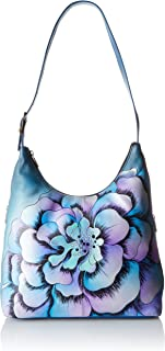 Genuine Leather Hobo Bag | Hand-Painted Original Artwork | Marigold Denim