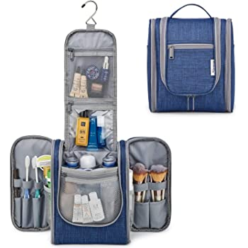 Hanging Travel Toiletry Bag Kit Cosmetic Makeup Organizer for Women and Men (Navy Blue)