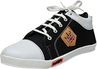 BLACK MACY Men's Black/White Casual Shoes