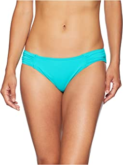 Pearl Side-Shirred Hipster Bikini Bottom