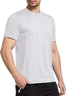 Ogeenier Men's Mesh Short Sleeve Running Top Quick Dry Sports Gym Training T-Shirt