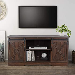 rustic espresso tv stand