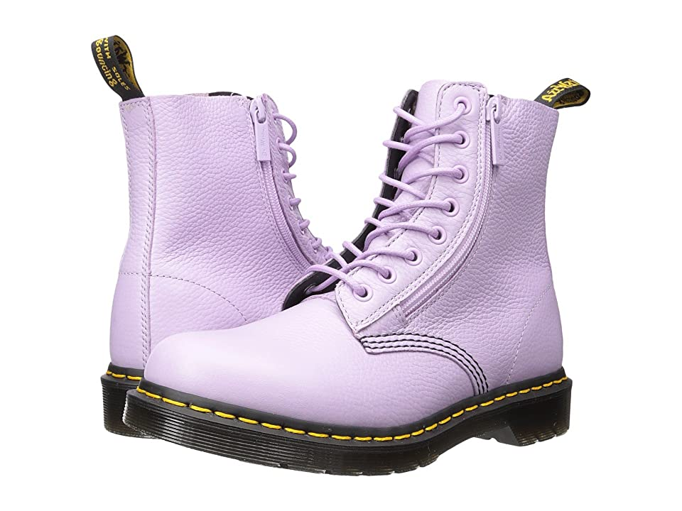 Dr. Martens Pascal w/ Zip 8-Eye Boot (Orchid Purple Aunt Sally) Women