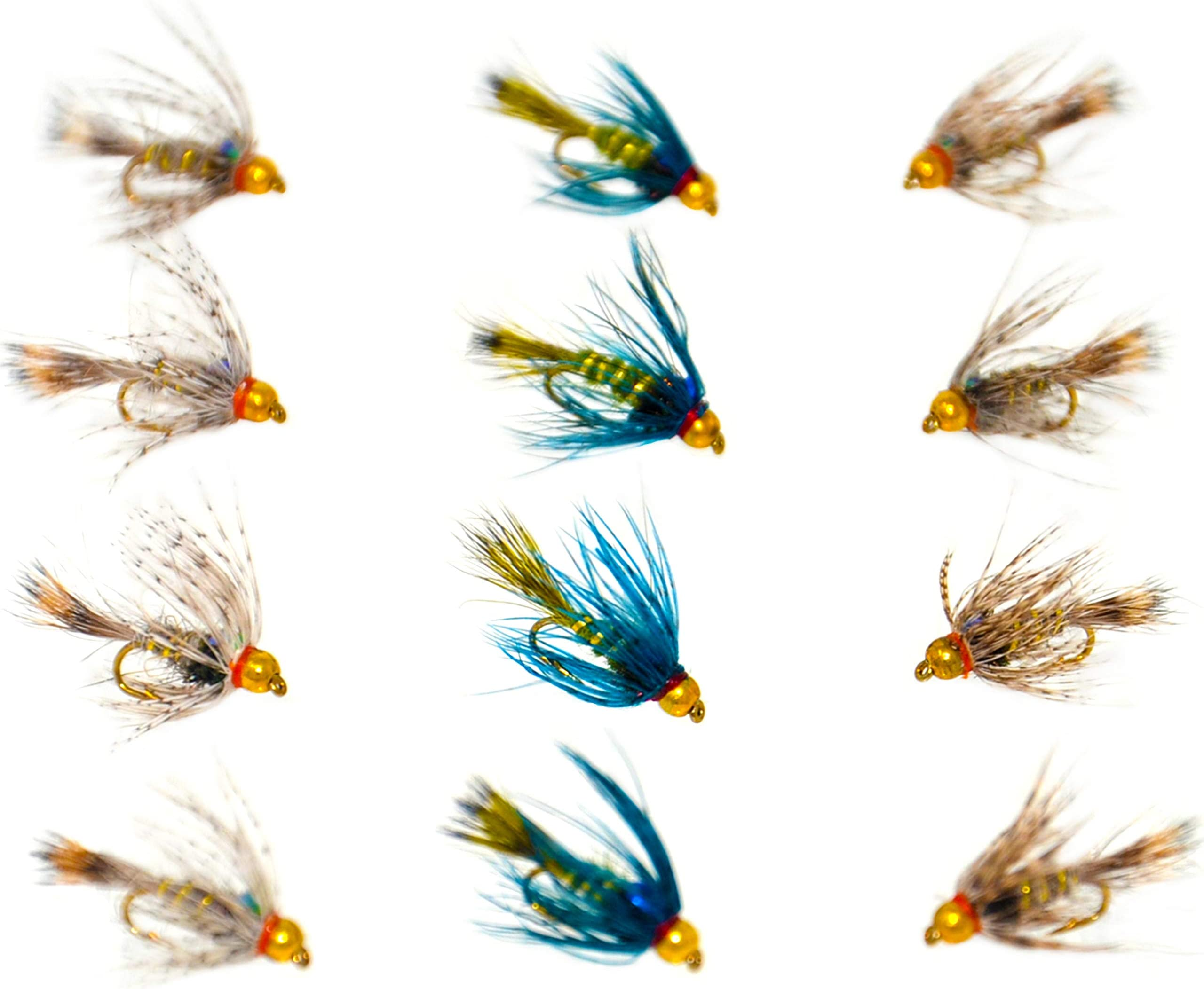 12 Mixed Pack 6 types Choice of Sizes Hares Ear /& Pheasant Tail Trout Flies