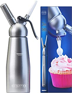 Nuvantee Cream Whipper (1-Pint) – Professional Aluminum Whipped Cream Dispenser..