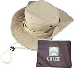 OUTZIE Wide Brim Packable Booney Sun Hat | Max Protection for UVA| Lightweight Cotton | Perfect for Fishing Gardening Hiking Camping The Beach and All Outdoor Activity | Bonus Nylon Travel Bag
