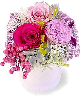 ROSETIQUE アロマ香る プリザーブドフラワー アレンジメント ギフト プレゼント プリザ 国産 枯れない花 磁器 ピンクカラー (ピンク)