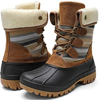 Womens Winter Duck Boots Waterproof Cold Weather Snow Boots