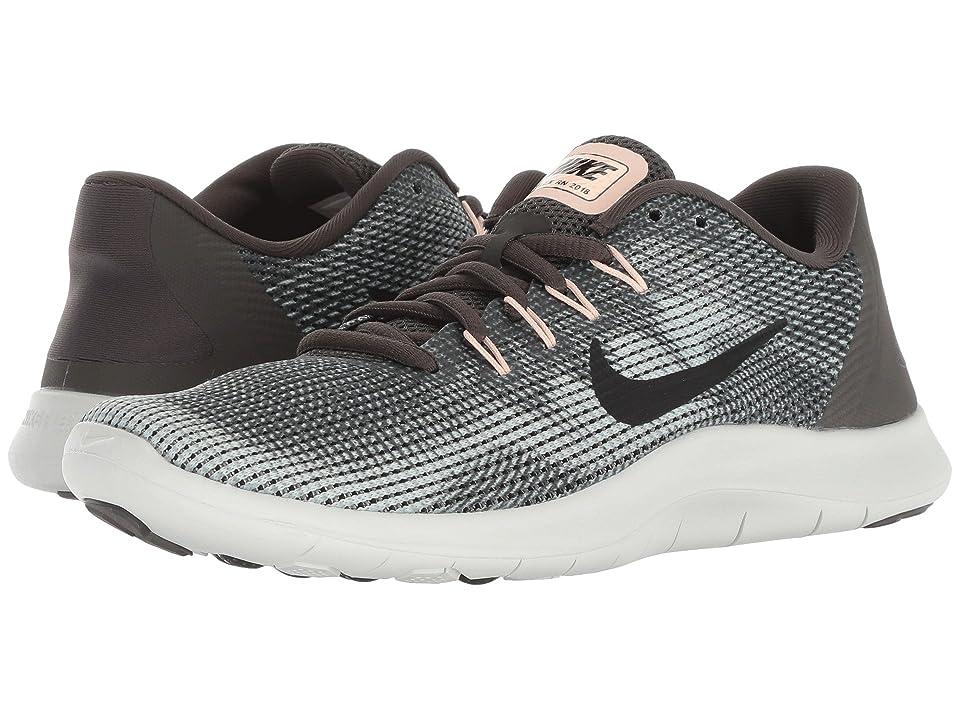 wholesale dealer e6303 7b35b Nike Flex RN 2018 (Newsprint/Black/Dark Stucco/Light Silver) Women's  Running Shoes