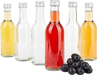 Succo e Vino Mosto Birra Tappo a Vite Argento I riempimento di aceto e Olio MamboCat Set di 12 borracce a Collo Dritto da 250 ml sciroppo liquore