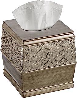 "Creative Scents Dublin Square Tissue Box Cover - (6"" x 6"" x 6.2"" H) Decorative Bathroom Tissues Paper Holder, Modern Napki..."