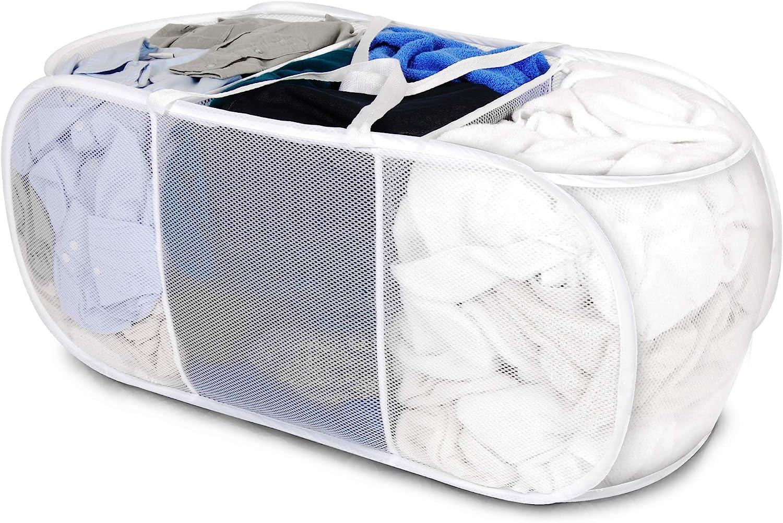 Smart Design Deluxe Mesh Max 73% OFF Pop Up 3 Max 47% OFF Compartment Laundry Ham Sorter