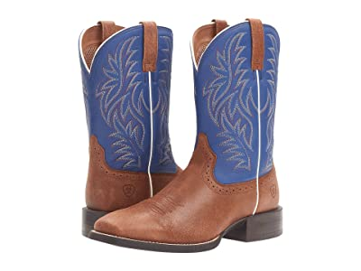 Ariat Sport Western Wide Square Toe (Red Angus Brown/Royal) Cowboy Boots